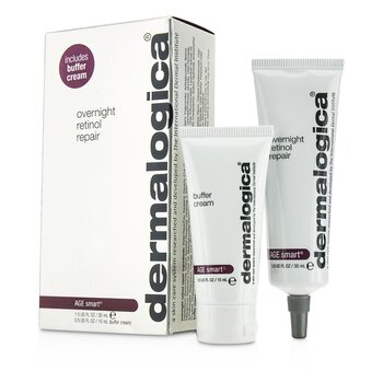 DermalogicaAge Smart Set: Overnight Retinol Repair 30ml + Buffer Cream 15ml 2pcs