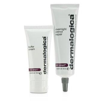 DermalogicaZestaw Age Smart Set: Overnight Retinol Repair 30ml + Buffer Cream 15ml 2pcs
