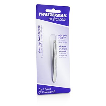 Tweezerman Professional Slant Tip Tweezer - Classic Stainless Steel - 19085830009