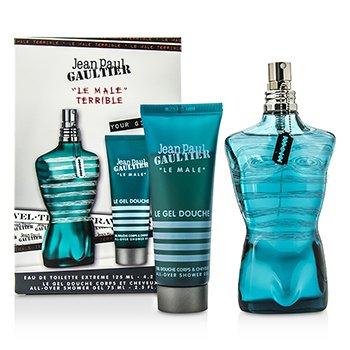 Jean Paul GaultierLe Male Terrible Coffret: Eau De Toilette Extreme Spray 125ml/4.2oz + All-Over Shower Gel 75ml/2.5oz 2pcs