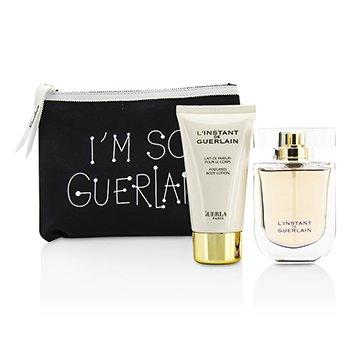 GuerlainL'Instant De Guerlain Travel Coffret: Eau De Parfum Spray 50ml/1.7oz + Body Lotion 75ml/2.5oz + Bag 3pcs