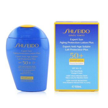 ShiseidoExpert Sun Aging Protection Lotion Plus WetForce For Face & Body SPF 50+ 100ml/3.4oz
