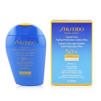ShiseidoExpert Sun Aging Protection Lotion Plus WetForce For Face & Body SPF 50+ 100ml/3.4oz