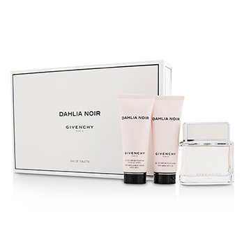 Givenchy Dahlia Noir Coffret: Eau De Toilette Spray 75ml/2.5oz + Body Milk 75ml/ ladies fragrance