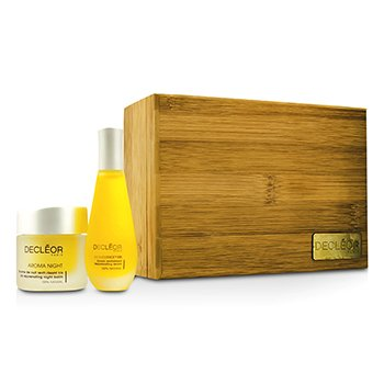 DecleorAroma Iris Coffret: Aromessence Iris Rejevenating Serum 15ml + Aroma Night Iris Night Balm 15ml 2pcs