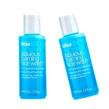 Bliss Fabulous Foaming Face Wash Duo Pack  2x60ml/2oz