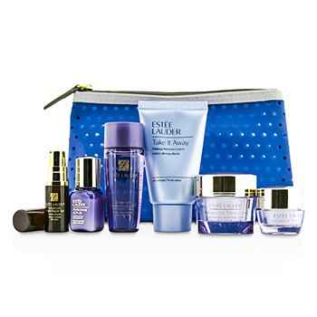 Estee LauderTravel Set: Makeup Remover + Optimizer + Advanced Time Zone Cream + Perfectionist [CP+R]  + Eye Cream + Eye Serum + Bag 6pcs+1bag