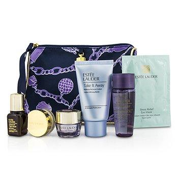Estee LauderTravel Set: Makeup Remover + Optimizer + ANR II + Eye Cream + Eye Mask + Lip Conditioner + Bag 6pcs+1bag