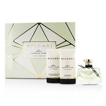 BvlgariMon Jasmin Noir L'Eau Exquise Coffret: Eau De Toilette Spray 50ml/1.7oz + Bath & Shower Gel 75ml/2.5oz + Body Lotion 75ml/2.5oz 3pcs