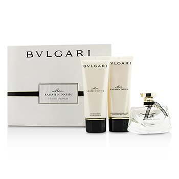 BvlgariMon Jasmin Noir Coffret: Eau De Parfum Spray 75ml/2.5oz + Bath & Shower Gel 100ml/3.4oz + Body Lotion 100ml/3.4oz 3pcs