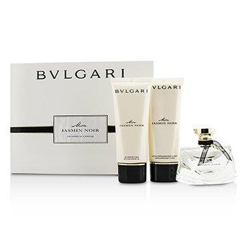 Bvlgari Mon Jasmin Noir Coffret: EDP Spray 75ml/2.5oz + Bath & Shower Gel 100ml/3.4oz + Body Lotion 100ml/3.4oz 3pcs