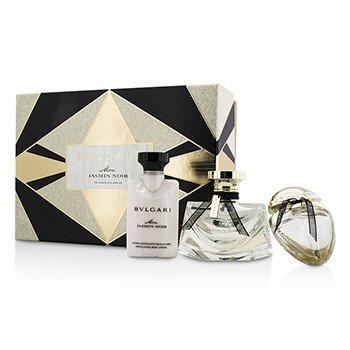 BvlgariMon Jasmin Noir Coffret: Eau De Parfum Spray 50ml/1.7oz + Body Lotion 40ml/1.35oz + Eau De Parfum Spray 15ml/0.5oz 3pcs
