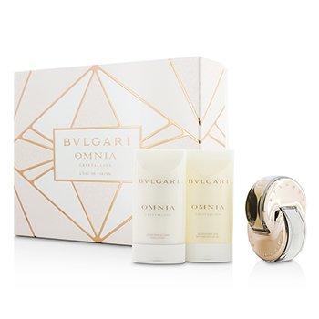BvlgariOmnia Crystalline Coffret: L'Eau De Parfum Spray 40ml/1.35oz + Bath & Shower Gel 75ml/2.5oz + Body Lotion 75ml/2.5oz 3pcs