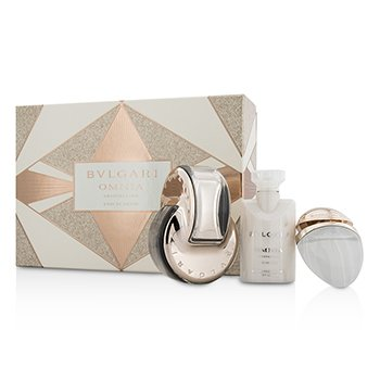 Bvlgari Omnia Crystalline Coffret: L'Eau De Parfum Spray 65ml/2.2oz + Body Lotion 40ml/1.35oz + Eau De Parfum Spray 15ml/0.5oz  3pcs