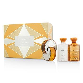 Bvlgari Omnia Indian Garnet Coffret: Eau De Toilette Spray 40ml/1.35oz + Body Lo ladies fragrance