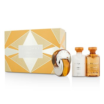 BvlgariOmnia Indian Garnet Coffret Eau De Toilette Spray 40ml 1.35oz Body Lotion 40ml 1.35oz Bath Shower Gel 40ml 1.35oz 3pcs