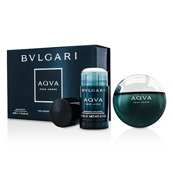 BvlgariAqva Pour Homme Coffret: Eau De Toilette Spray 50ml/1.7oz + Deodorant Stick 75ml/2.7oz 2pcs