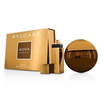 Bvlgari Aqva Amara Coffret: EDT Spray 100ml/3.4oz + EDT Spray 15ml/0.5oz 2pcs
