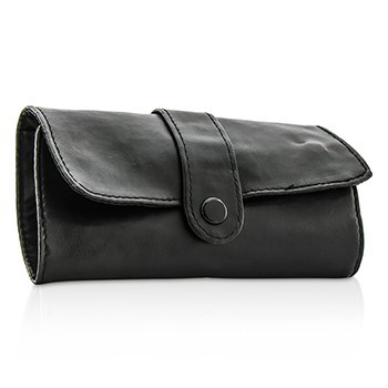 Serious Skincare Black Leather Cosmetics Pouch –