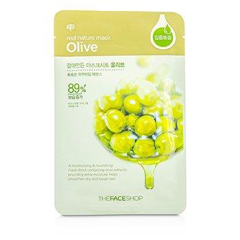 The Face Shop Real Nature Mask - Olive (Moisturizing & Nourishing) 10x23g/0.8oz