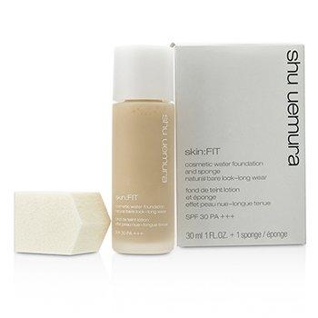 Shu Uemura Skin: Fit Cosmetic Water Foundation and Sponge SPF30 - #574 Light Sand 30ml/1oz