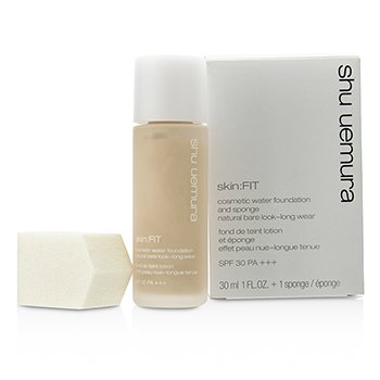 Shu Uemura Skin:Fit Cosmetic Water Foundation and Sponge SPF30 - #584 Fair Sand  30ml/1oz