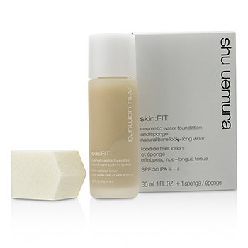 Shu Uemura Skin: Fit Cosmetic Water Foundation and Sponge SPF30 - #784 Fair Beige 30ml/1oz