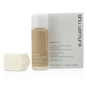 Shu Uemura Skin:Fit Cosmetic Water Foundation and Sponge SPF30 - #754 Medium Beige  30ml/1oz