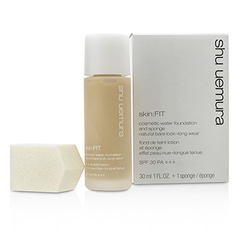 Shu Uemura Skin:Fit Cosmetic Water Foundation and Sponge SPF30 – #764 Medium Light Beige 30ml/1oz