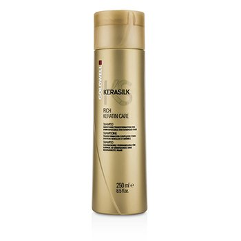 Goldwell Kerasilk Rich Keratin Care Shampoo – Smoothing Transformation (For Unmanageable and Damaged Hair) 250ml/8.5oz
