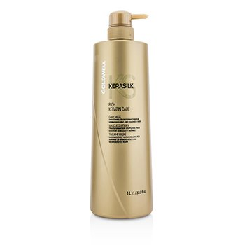Goldwell Kerasilk Rich Keratin Care Daily Mask – Smoothing Transformation (For Unmanageable and Damaged Hair) 1000ml/33.8oz