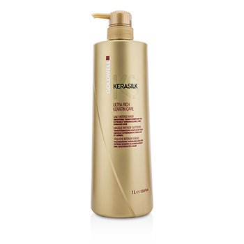 Goldwell Kerasilk Ultra Rich Keratin Care Daily Intense Mask - Smoothing Transformation (For Extremely Unmana  1000ml/33.8oz