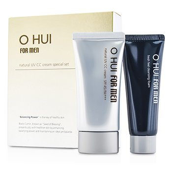 O Hui Set Especial: Crema CC Natural UV  SPF45 50ml + Fresh Feel Espuma Limpiadora 40ml  2pcs
