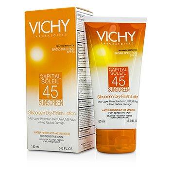 Vichy Capital Soleil Silkscreen Dry-Finish Lotion For Face & Body SPF 45 150ml/5oz
