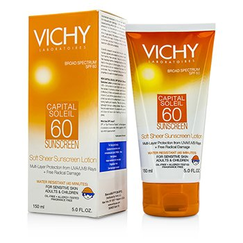 VichyCapital Soleil Soft Sheer Sunscreen Lotion For Face & Body SPF 60 150ml/5oz