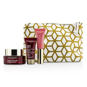 ClarinsSet Touch Of Magic: 1x Instant Smooth Perfecting Touch + 1x  Perfector Labios + 1x Crema BB 3pcs+1bag