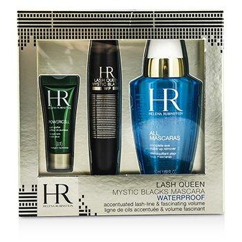Helena Rubinstein Lash Queen Mystic Blacks Waterproof Mascara Set: Mascara 7ml/0.24oz + MakeUp Remover 50ml/1.69oz + Powercell 3ml/0.15oz  3pcs
