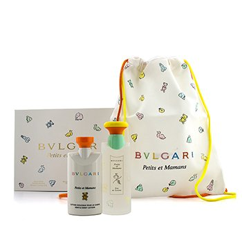 BvlgariPetits Et Mamans Coffret: Eau De Toilette Spray 100ml/3.4oz + Body Lotion 75ml/2.5oz + Bag 2pcs+1bag