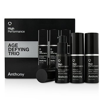 Anthony High Performance Trio Anti Edad: Tratamiento Facial 15ml + Suero Facial 15ml + Crema Para Ojos 15ml  3pcs