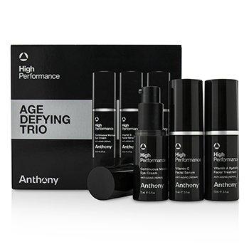 Anthony High Performance Trio Anti Edad: Tratamiento Facial 15ml + Suero Facial 15ml + Crema Para Ojos 15ml  3pcs