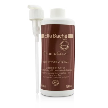 Ella Bache Fruit D'Eclat Organic Awakening Vegetable Oil  for Face & Body (Salon Product) 500ml/16.9oz