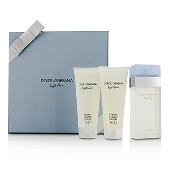 Dolce & Gabbana Light Blue Подарочный Набор: Туалетная Вода Спрей 100мл/3.3унц + Крем для Тела 100мл/3.3унц + Гель для Душа и Ванн