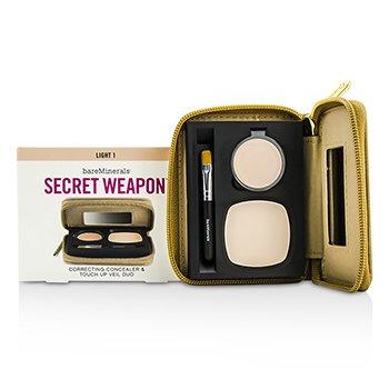 Bare Escentuals Secret Weapon Correcting Concealer & Touch Up Veil Duo – # Light 1 + Translucent 4.7g/0.22oz
