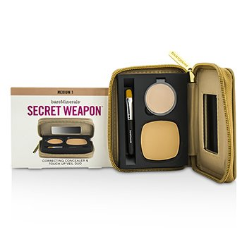 BareMinerals Secret Weapon Correcting Concealer & Touch Up Veil Duo - # Medium 1 + Medium  4.7g/0.22oz