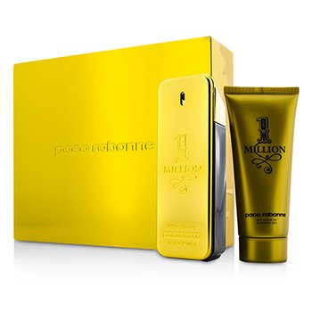 Paco Rabanne One Million Coffret: Eau De Toilette Spray 100ml/3.4oz + Shower Gel 100ml/3.4oz (Can Box)  2pcs