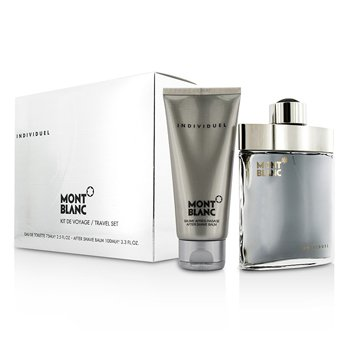 Mont BlancIndividuel Coffret: Eau De Toilette Spray 75ml/2.5oz + After Shave Balm 100ml/3.3oz 2pcs