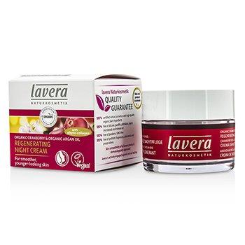 Image of Lavera Organic Cranberry  Argan Oil Regenerating Night Cream 50ml1.6oz