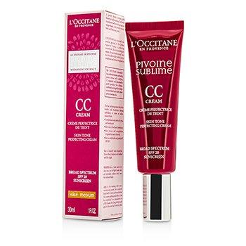 L'Occitane Peony Pivoine Sublime CC Cream SPF 20 - #Medium  30ml/1oz