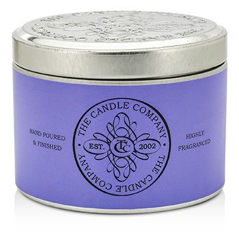 The Candle Company Tin Can Highly Fragranced Candle – French Lavender (Purple Can) (1.5×3) inch