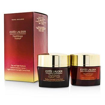 Estee LauderNutritious Vitality8 Day & Night Radiance: Moisture Creme 50ml + Overnight Creme/Mask 50ml 2x50ml/1.7oz